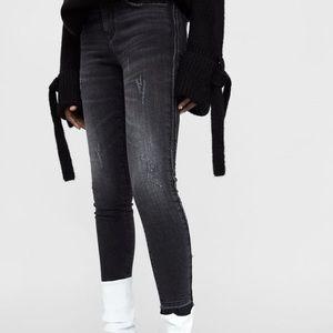 Zara Black Denim Skinny Jeans
